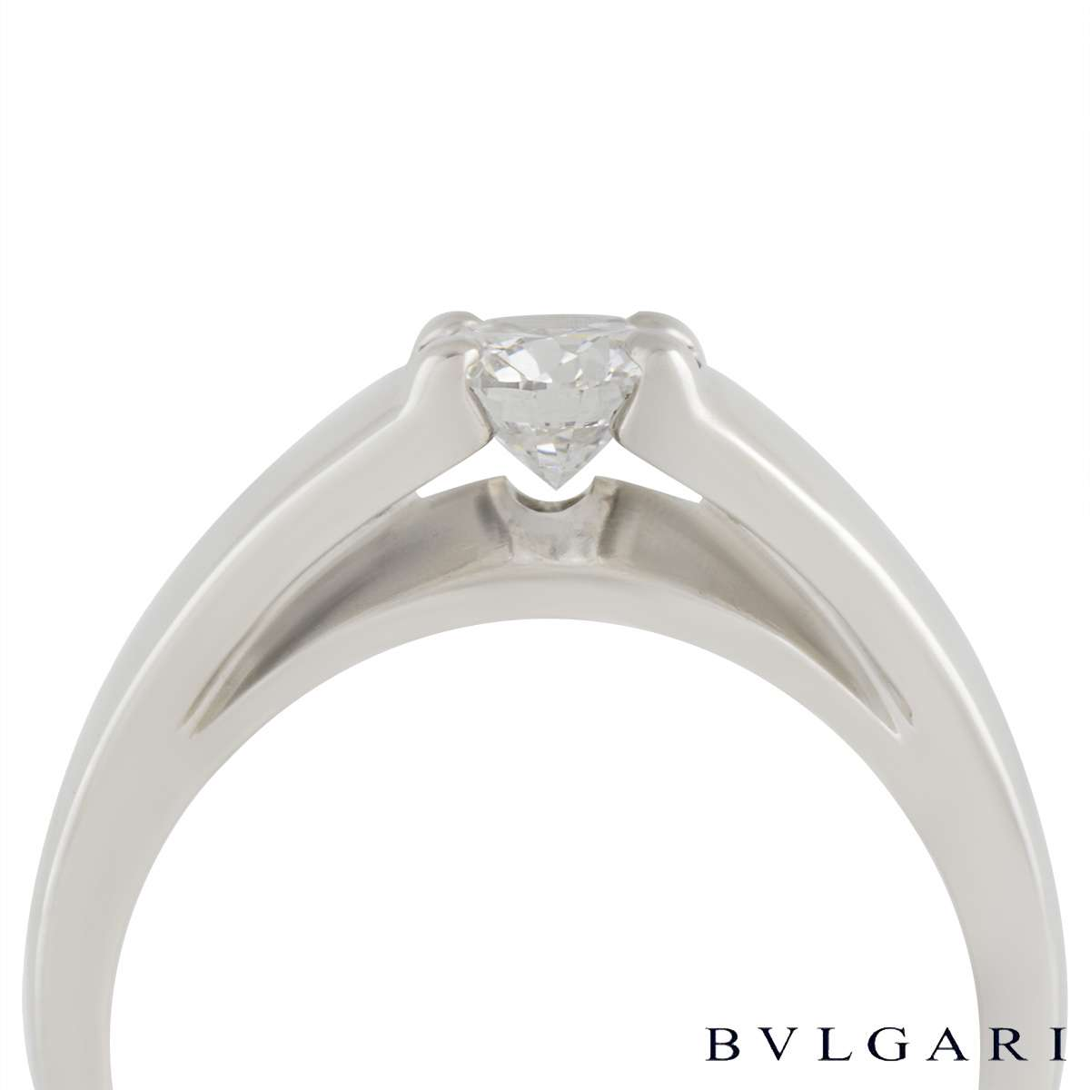 Bvlgari Round Brilliant Cut Diamond Marry Me Ring in Platinum 0.50ct E/VS1 AN852740